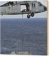 N Mh-60s Sea Hawk En Route Wood Print