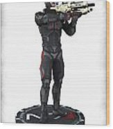 N7 Soldier V1 Wood Print by Frederico Borges