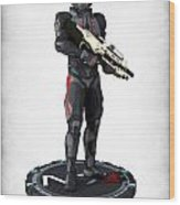 N7 Soldier V2 Wood Print by Frederico Borges