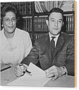 Naacp Lawyers Jack Greenberg B.1924 Wood Print by Everett