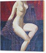 Naked Beauty Wood Print