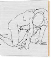 Naked-man-art-18 Wood Print