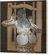 Naked Peeper Wood Print