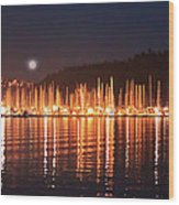 Nanaimo Harbour Wood Print by Dayvid Clarkson