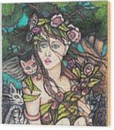 Nancy Jo Heart Of Gold Wood Print