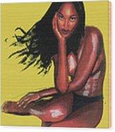 Naomi Campbell Wood Print