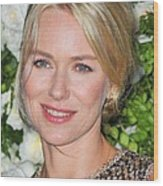 Naomi Watts At Arrivals For Chanel 6th Wood Print by Everett