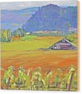 Napa Valley Mountains Wood Print by Barbara Anna Knauf