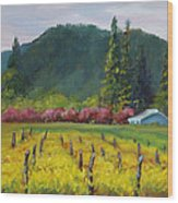 Napa Valley Mustards On Silverado Trail Wood Print