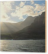 Napali Coast Sunrise Wood Print