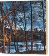 Napanee River At Dawn Wood Print