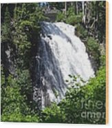 Narada Falls Through The Trees Wood Print
