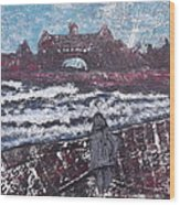 Narragansett In Winter Wood Print