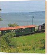 Narrow Gauge Railroad Portland Maine Wood Print