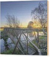 Narrow Iron Bridge Wood Print