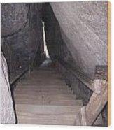 Narrow Stairway Wood Print