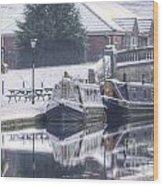 Narrowboats At The Boat Inn Wood Print