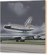 Nasa Space Shuttle Wood Print