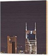 Nashville Cityscape 6 Wood Print