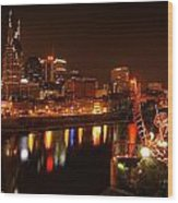 Nashville Lights Wood Print