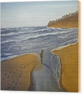 Natalie At 3rd Beach Wood Print