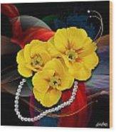 Natalys Flower Wood Print