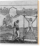 Natchez Punishment, C1725 Wood Print