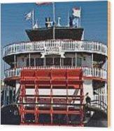 Natchez Riverboat Wood Print