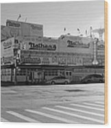 Nathan's Original In Black And White Wood Print