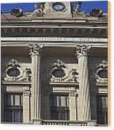 National Bank Of Romania Wood Print