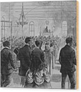 National Convention Of The Colored Men Wood Print by Everett