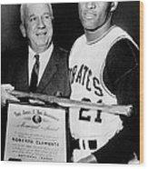 National League President Warren Giles Wood Print by Everett