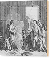 Native Americans: Divorce Ceremony Wood Print