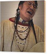 Native Cheyenne Chant Wood Print