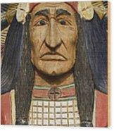 Native Chief Wood Print