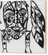 Native Man Wood Print