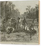 Natives Of Many Southeastern Tribes Wood Print by Everett