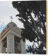 Nativity Church Tree Wood Print