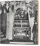Nativity Grotto In 18th Century Wood Print