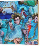Nativity Scene Figures Wood Print