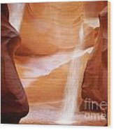 Natural Beauty At Its Finest - Antelope Canyon Arizona Wood Print by Christine Till
