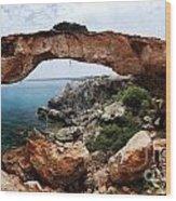 Natural Bridge - Cape Gkreko - Cyprus Wood Print