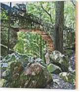 Natural Bridge Wood Print