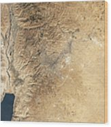 Natural-color Satellite View Of Amman Wood Print