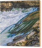 Natural Spring Waterfall Big River Wood Print