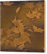 Natures Gold Leaf Wood Print