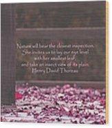Nature's Invitation Wood Print