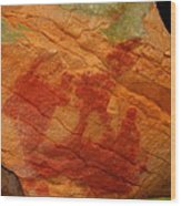 Nature's Palette In Stone Wood Print