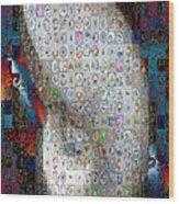 Nautilus Shell Mosaic Wood Print