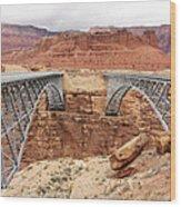 Navajo Bridge In Arizona Wood Print